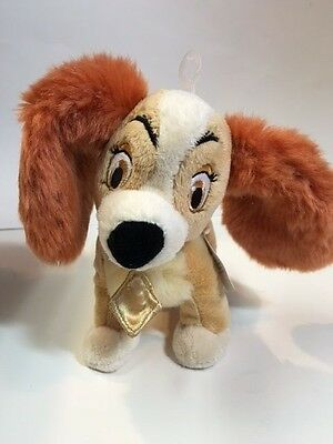 Disney Store Lady Plush Dog  Lady And The Tramp 8 Inches Long New With Tag