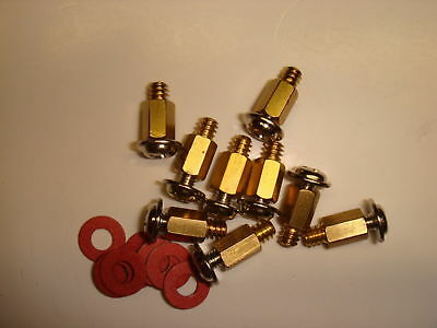Copper Standoffs Spacer supporter 6.5 mm for motherboard circuit board Lot of 9