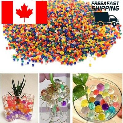 1000X Colourful Water Plant Flower Jelly Crystal Soil Mud Hydro Gel Balls Orbeez