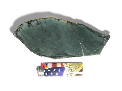 "Evergreen Jade™ 1/4"" Slab (Lapidary or Jewelry Rough Nephrite)"