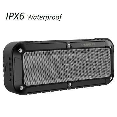 PASBUY P8X Portable in/Out IPX6 Waterproof Bluetooth 4.1 NFC TF FM Dual Speaker