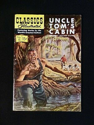 Classics Illustrated, Uncle Tom's Cabin by Harriet Beecher Stowe, 1944, No. 15