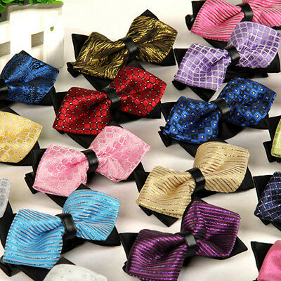 Men Aristocracy Cravat Bowknot Sharp Corners Bow Tie Wedding Groom Bowtie Ornate