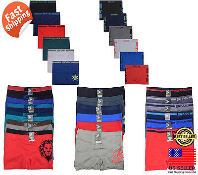 Power Club 6 12 Mens Compression Seamless Boxer Briefs Underwear Wholesale LOT