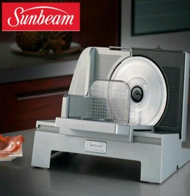 SUNBEAM Electric Meat Slicer Deli Meat Cafe Food Slicer Stainless Steel Kitchen