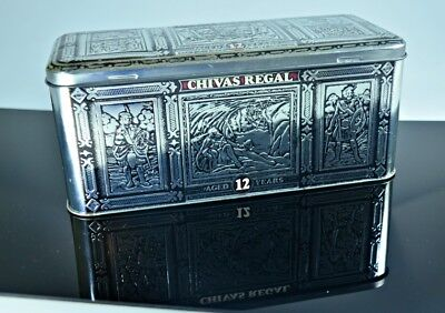 CHIVAS REGAL AGED 12 YEARS BLENDED SCOTCH WHISKY EMBOSSED Empty TIN