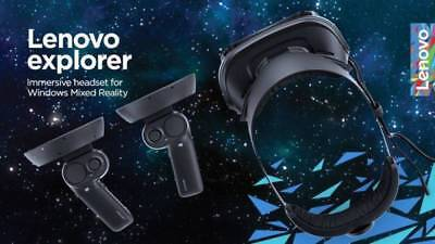Lenovo Explorer Windows Mixed Reality VR Headset & Controllers
