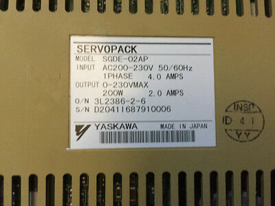1PCS   Yaskawa AC servo driver SGDE-02AP good in condition for industry use