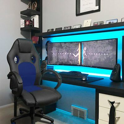 Gaming Chair Desk Office Leather Racing Tilt Seat Rolling Swivel Computer Chairs