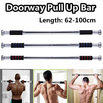 Length 62-100cm Door Chin Up Bar Pull Push Up Home Fitness Workout Exercise Bar