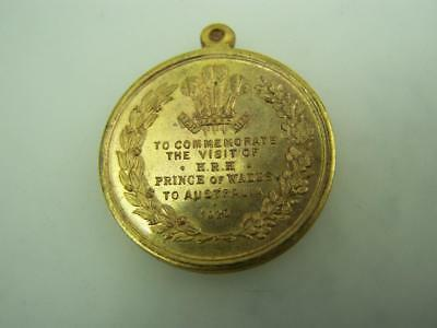 1920 medal Welcome to Australia HRH Prince of Wales commemorative  3301