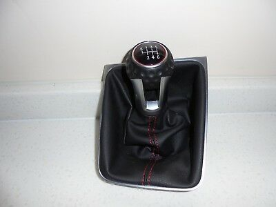 2013-Vw Golf Gti Mk7 Gear Stick Knob And Gaitor Assembly. 6 Speed Manual.