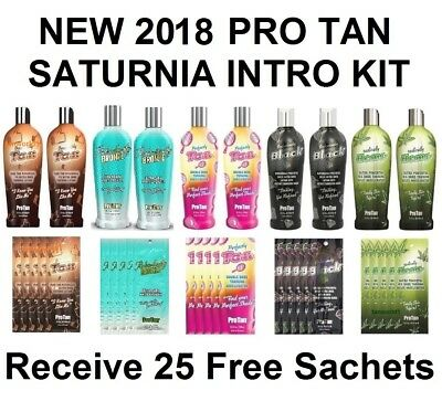 NEW PRO TAN 35 PIECE SUNBED SALON TANNING LOTION PACKAGE DEAL 25 Free Sachets