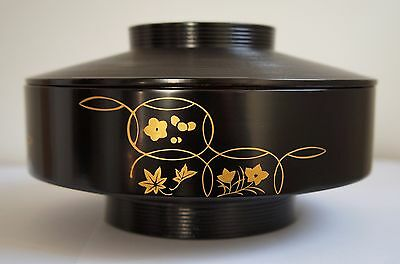 Authentic Japanese Wooden Lacquered Container with lid by Zohiko