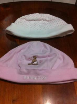 "Baby Girls Beanies (one is "" Royal Doulton "" Bunnykins) - EXCELLENT CONDITION"