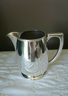 Victorian Plate Silver Plated Water Jug With Ice Catcher