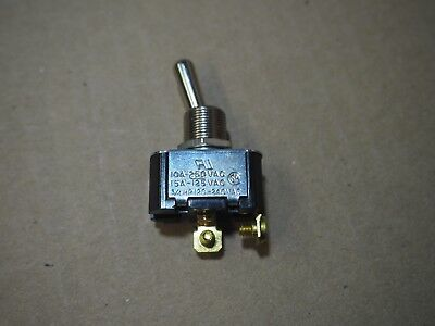 Carling Toggle Switch SPST 10A 250V 15A 125V 2 Connector 3/4hp On Off 2FA54-73