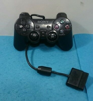 Mando Sony Playstation Ps One Ps1 Ps2 Original Color Negro Scph-10010 Dual Shock
