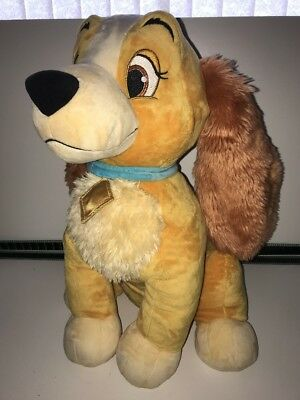 "Disney Store Exclusive - Lady & The Tramp LARGE 19"" Soft Plush Toy Immaculate"
