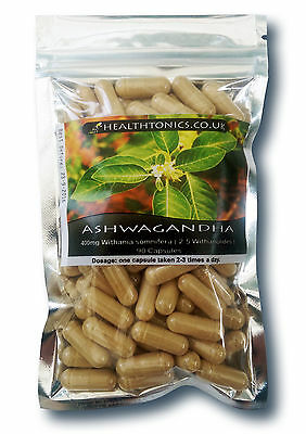 Ashwagandha Extract ( 20:1 equivalent to 8,000mg ), 30 - 90 Vegetarian Capsules