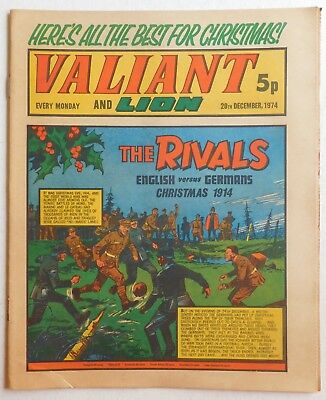 VALIANT and LION Comic - 28th December 1974