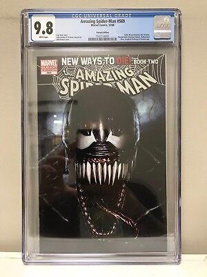 The Amazing Spider-Man #569 Cgc 9.8 Nm! Adi Granov Variant Cover! 1St Anti-Venom