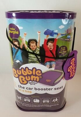 PURPLE Bubble Bum Booster Seat ~ 4-11 Yrs 40-100 lbs ~ Portable Inflatable