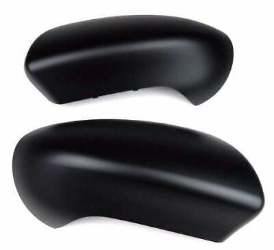Nissan Qashqai 07-13 Door Wing Mirror Cover Cap Pair Set Black Matt Lh+Rh