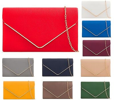 Faux Leather Pearl Envelope Prom Party Evening Wedding Bridal Clutch Bags