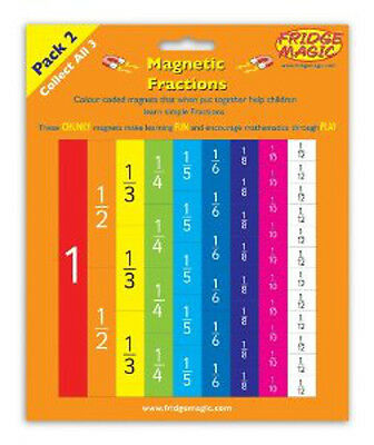 Magnetic Fractions Pack 2 National Numeracy Strategy Fridge Magic Magnet m7