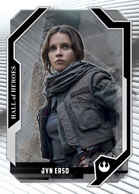 Topps Star Wars Card Trader Masterwork Selects Hall of Heroes White Jyn Erso