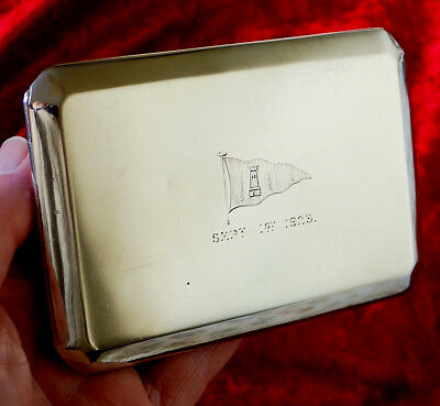 Sterling Silver Cigarette Case Trophy. Island Sailing Club, Cowes, Isle of Wight