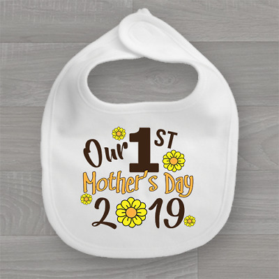 My Our First Mothers Mother's Day 2018 Baby Bib First Keep Sake Bib