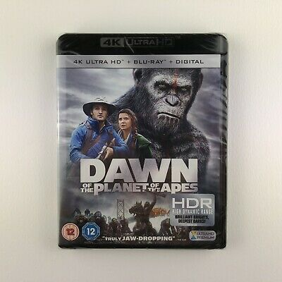 Dawn Of The Planet Of The Apes (4K Ultra HD + Blu-ray, 2017) *New & Sealed*