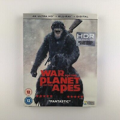 War For The Planet Of The Apes (4K Ultra HD + Blu-ray, 2018) s *New & Sealed*