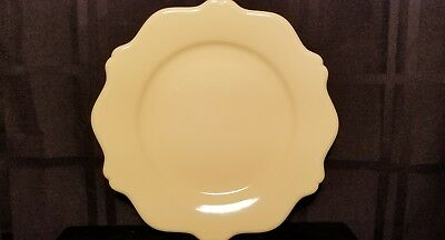 "Gail Pittman (GP) ""Hospitality Butter Yellow"" Luncheon Plate 9 1/2"""