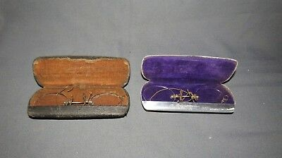 2 PAIRS OF EARLY 19th CENTURY  SPECTACLES WITH CASES
