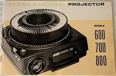 Kodak Carousel Projector Models 600 700 800 User Manual Owner Guide Instructions
