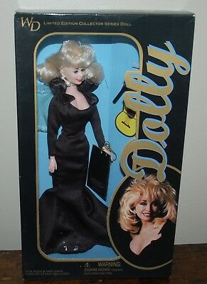 Vintage WD Dolly Parton Limited Edition  Doll 1996 Black Evening Gown Beautiful