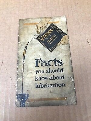 Vintage 1930/40's  Veedol Facts You Should Know About Lubrication Pamphlet