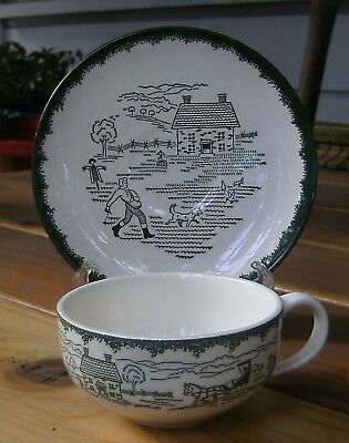 Vintage ROYAL CHINA Countryside Spring CUP & SAUCER Set