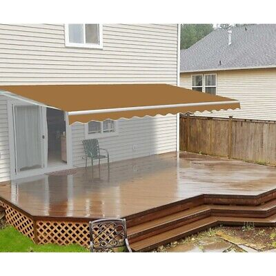 ALEKO Motorized Retractable Patio Awning 20 X 10 Ft Sand Color