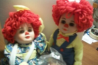 """Miracle Network """"rosie & Rags"""" Dolls Created By Marie Osmond"""