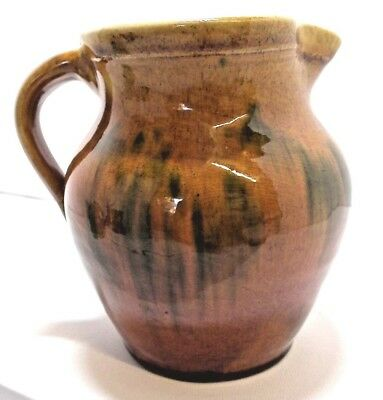 Vintage/Antique Ewenny Pottery Treacle Glaze Jug. Welsh Pottery.
