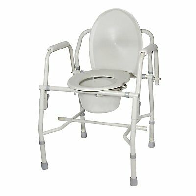 Drive Medical K. D. Deluxe Steel Drop-Arm Commode Tool Free