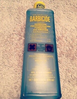 Barbicide Disinfectant Concentrate Solution Anti Rust Formula GERMICIDAL 473ml