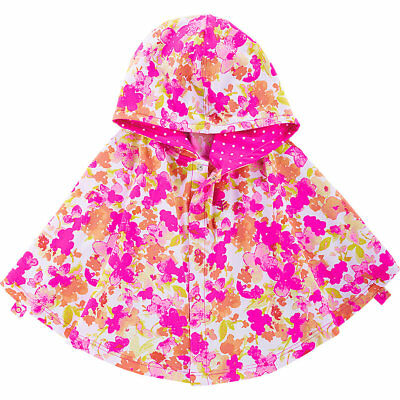 Coolibar UPF 50+ Baby Girls' Hooded Beach Cover-Up Poncho