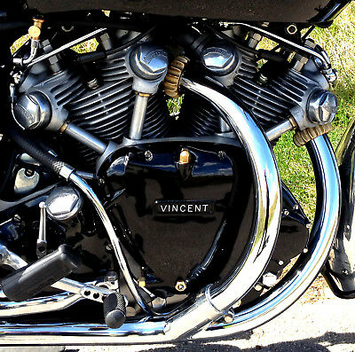 Vincent black shadow series D 1955 picture of engine