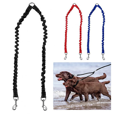 PETBABY Bungee Double Dog Coupler Lead, No Tangle Two 2 Dog Leash and Splitter f
