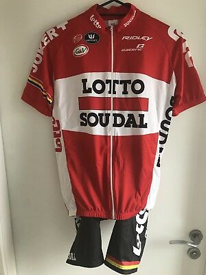 Mens Vermarc Lotto Soudal Pro Team Cycling Kit Size Large